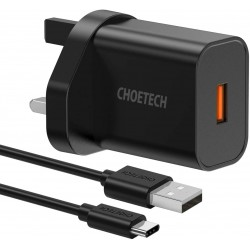 CHOETECH- Chargeur 18W Quick Charge 3.0- Pour Samsung...